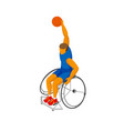 isometirc physically disabled basketball player vector image vector image