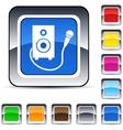 karaoke square button vector image vector image