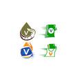 logotype v modern template set vector image vector image
