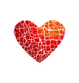 love icon concept abstract broken heart symbol red vector image