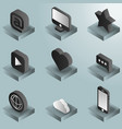 media color gradient isometric icons set vector image