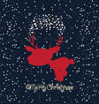 Merry christmas card with deer vector image vector image