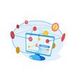 modern marketing network vector image vector image