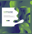 modern trendy landing page and background vector image vector image