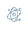molecule line icon concept molecule flat vector image vector image