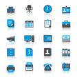 Office supplies flat with reflection icons vector image vector image