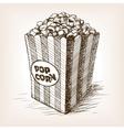 Pop corn sketch style vector image vector image