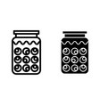 potion bottle line and glyph icon bank with vector image vector image