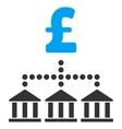 Pound Bank Scheme Flat Icon Symbol vector image vector image