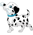 puppy with a bone vector image