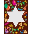 purim background with davis star vector image vector image