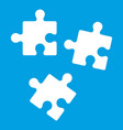 puzzle icon white vector image vector image