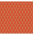 Red and green damask pattern vector image vector image