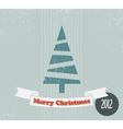 retro christmas card vector image vector image