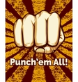Retro Punching Fist Poster vector image