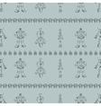 Robot doodles pattern vector image vector image