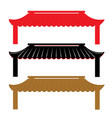 roof traditional china vector image vector image
