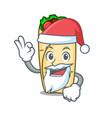 santa burrito mascot cartoon style vector image vector image