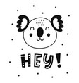 scandinavian style childish poster cute animal vector image vector image