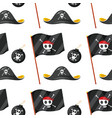 seamless pattern tile cartoon with pirate theme vector image vector image
