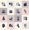 set of flat design concept icons for finance vector image