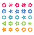 Set of flat icon flower vector image