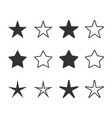 set star icons star logo flat vector image