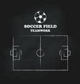 soccer field vintage hand drawn blackboard vector image