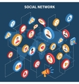 Social Network Isometric Set vector image vector image