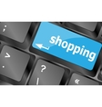 Special keyboard key with shopping key Keyboard vector image vector image