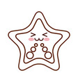 starfish tropical kawaii character vector image vector image