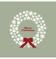 Stock christmas wreath with snowflakes vector image vector image