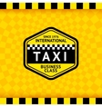 Taxi symbol with checkered background - 18 vector image vector image