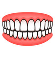 teeth design isolated drawing vector image vector image