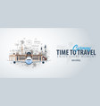 travel to germany time to travel banner with vector image