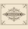 vintage floral ornament template vector image