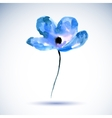 watercolor a a blue flower on a vector image vector image