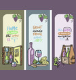 winery set cards banners vector image