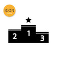 winner podium icon isolated flat style vector image