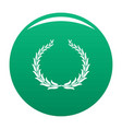 winning wreath icon green vector image vector image