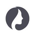 woman beauty salon logo hair face spa treatment vector image vector image