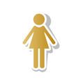woman sign golden gradient vector image