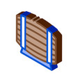 wooden barrel for wine products isometric icon vector image vector image
