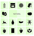 14 natural icons vector image vector image