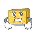 angry gouda cheese pieces cartoon vector image vector image