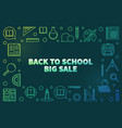 back to school big sale linear colored vector image vector image