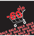 Big sale 60 percentage discount vector image vector image