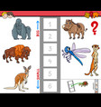 biggest and smallest animal cartoon game vector image