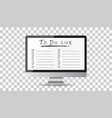 businessman to do list checklist with computer vector image vector image