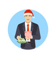 businessman with money and piggy bank businessman vector image